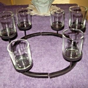 NEW CENTERPIECE SIX CANDLE HOLDERS